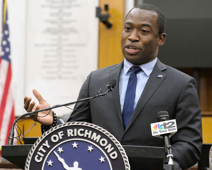 Richmond Mayor Levar Stoney answers a question about the possibility of his reelection to the position during a news conference in Richmond, VA on November 4th, 2020
